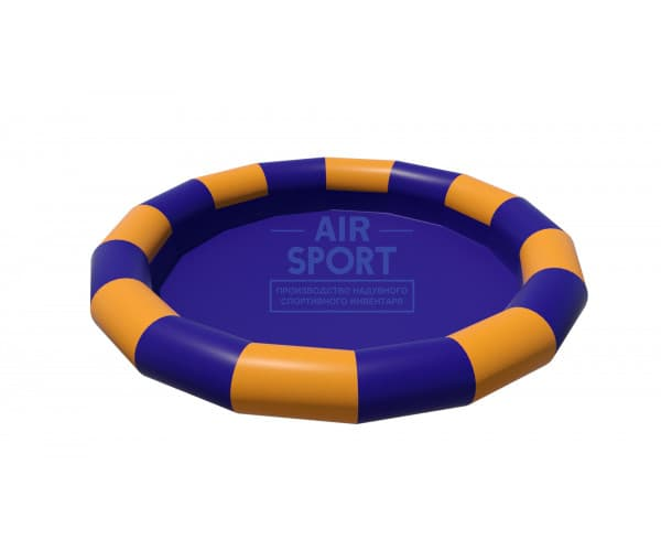 Inflatable pool round