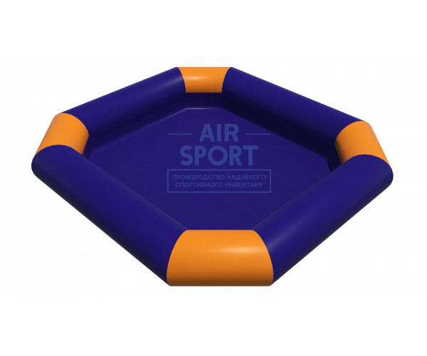 Inflatable pool square