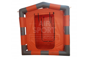Decontamination inflatable tent